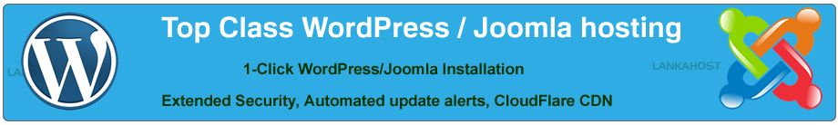 Top Class WordPress, Joomla Hosting in Sri Lanka with C